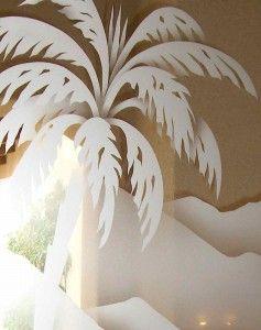 Desert Palm 2D Glass Doors (close up)