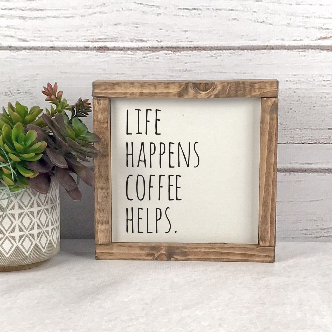Life Happens Coffee Helps Kitchen Sign in 2020 Farmhouse