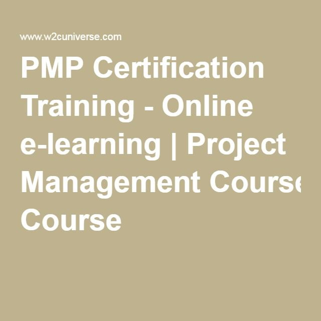 Pmp Certification Training Online E Learning Project Management