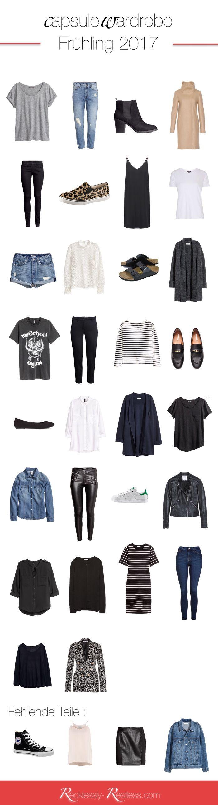 Spring Capsule Wardrobe 2017 - Meine Garderobe für den Frühling