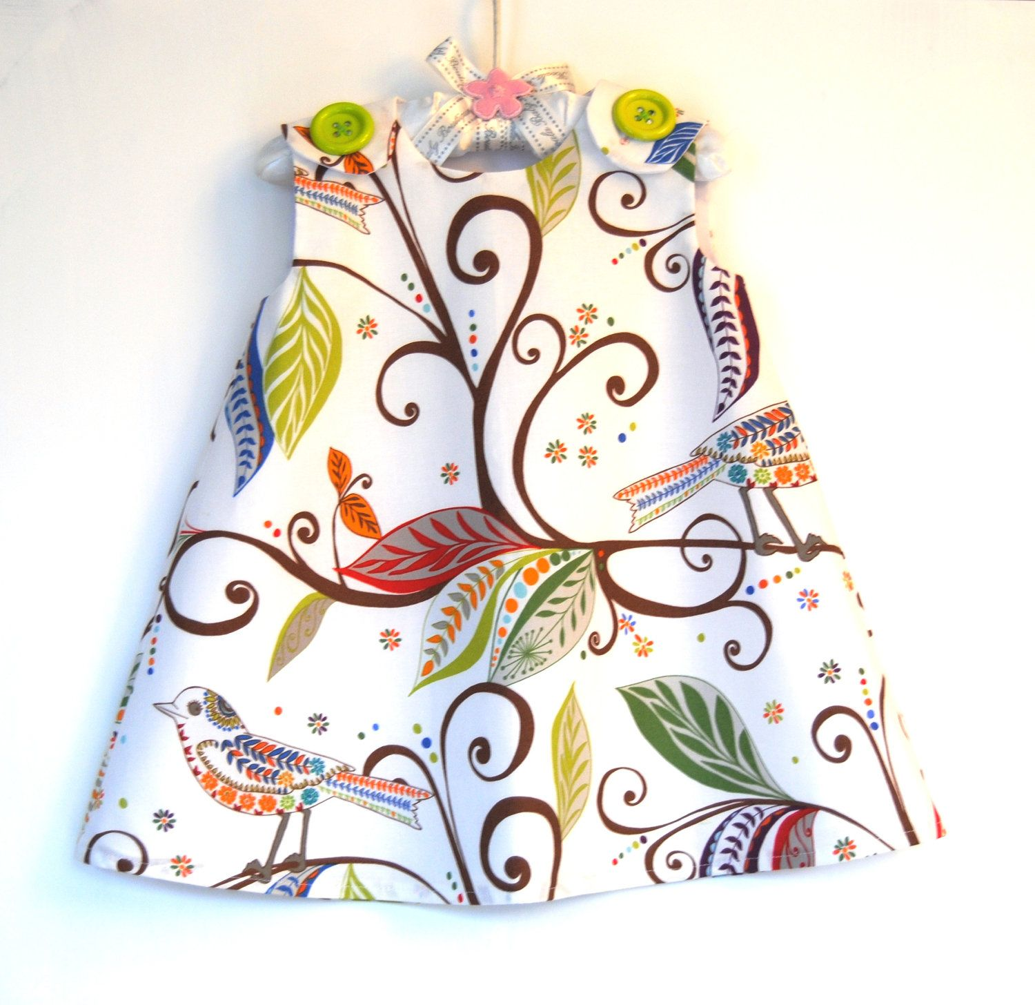 Wren in Gypsy Baby Toddler Dress   3M through by KKchildrendesigns, $37.00