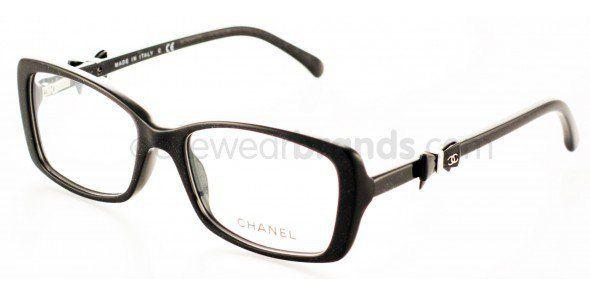 bc7f827fb7 Chanel CH3248 1283 Black Glitter Chanel Glasses