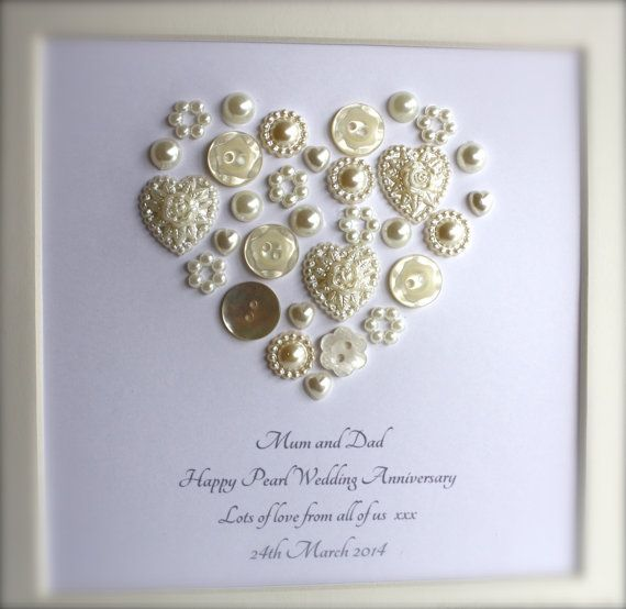 Pearl Wedding Anniversary Gifts on Pinterest Pearl anniversary, 30th ...