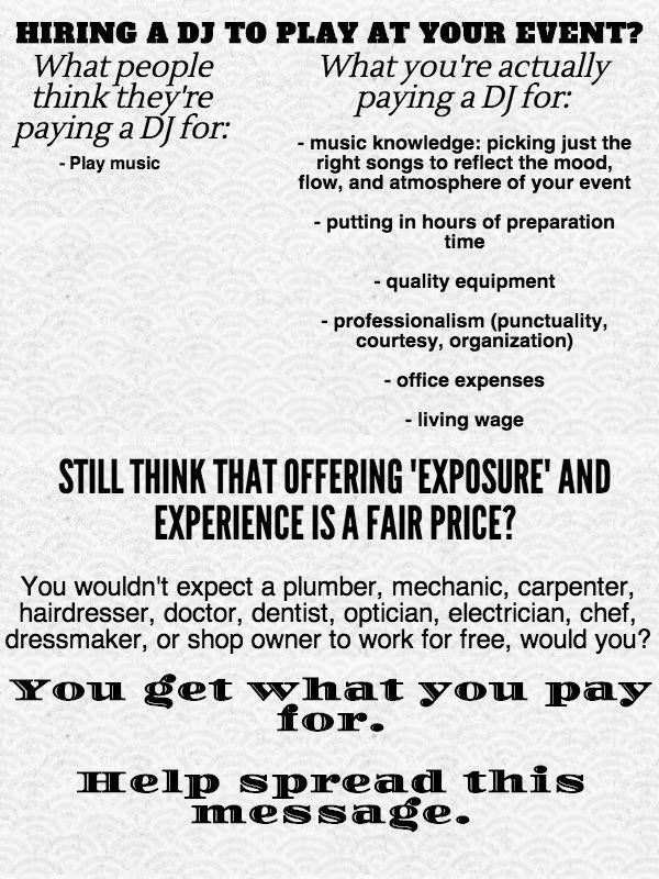 Learn what you're paying for when you hire a DJ.
