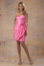 Our in stock dress is a size 10 in Metallic Pink.  This dress comes in 60+ colors and in sizes 0-28.