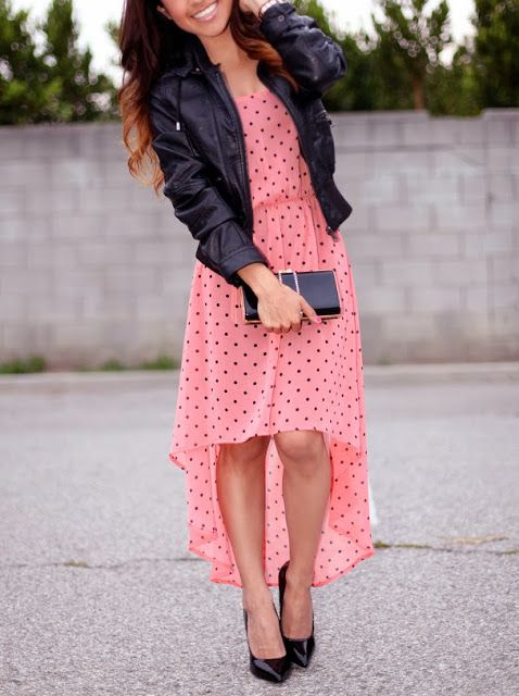 pink, polka dots, & #leather