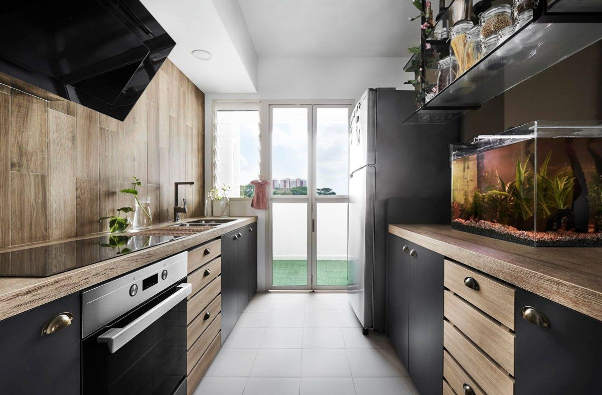 15 Stunning Hdbs That Look And Feel Like A Boutique Hotel Kitchen Layout Galley Kitchens Galley Kitchen