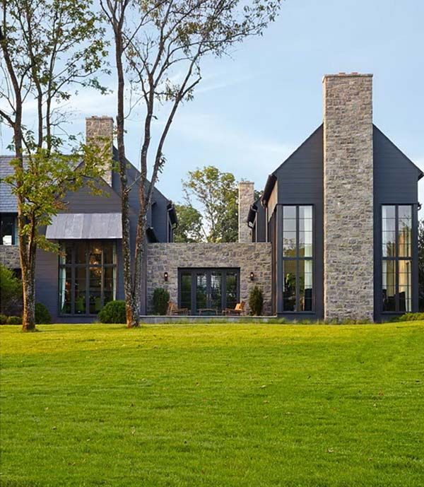 Mesmerizing Blend Of Traditional And Modern In Nashville Stone Cladding ExteriorStone