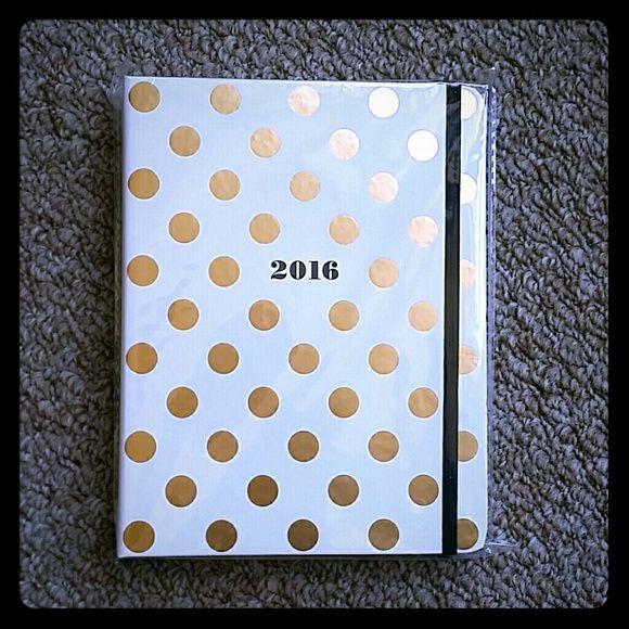 2016 Kate Spade Planner / Agenda - BRAND NEW! Brand new Kate Spade 2016 Planner.  Gold polka dots. kate spade Other