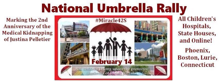 Join National Umbrella Rally, Saturday Feb 14th AMiracleForTwoSisters.org #Miracle42S