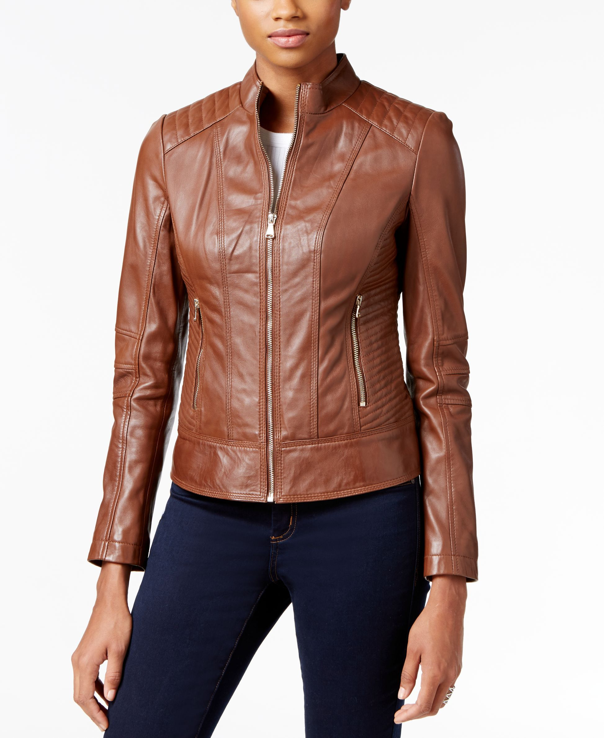 Guess Leather Bomber Jacket Leather Bomber Jacket Quilted Bomber Jacket Brown Bomber Jacket [ 2378 x 1947 Pixel ]