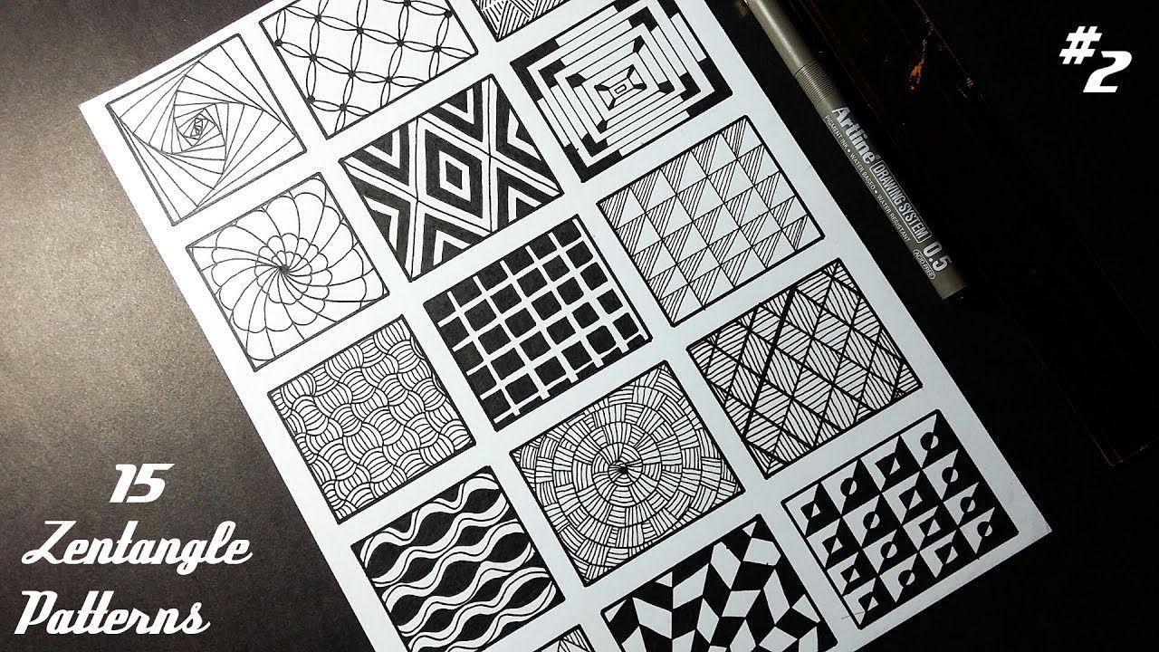 15 Zentangle Patterns 2 Angga Art Tutorials Youtube