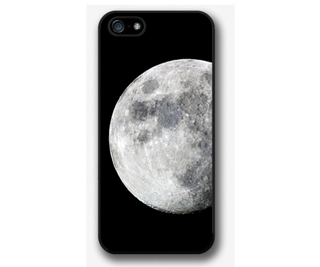 iPhone 4 4S 5 5S 5C case, iPhone 4 4S 5 5S 5C cover, Moon