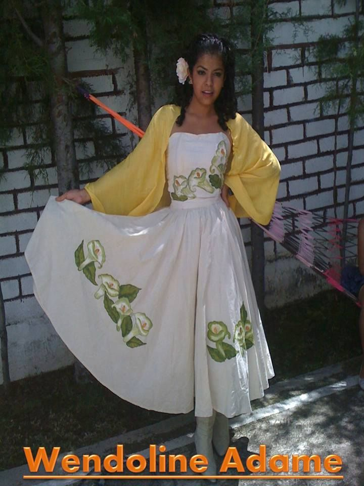 vestido alcatraces pintados a mano   vestidos pintados   Pinterest