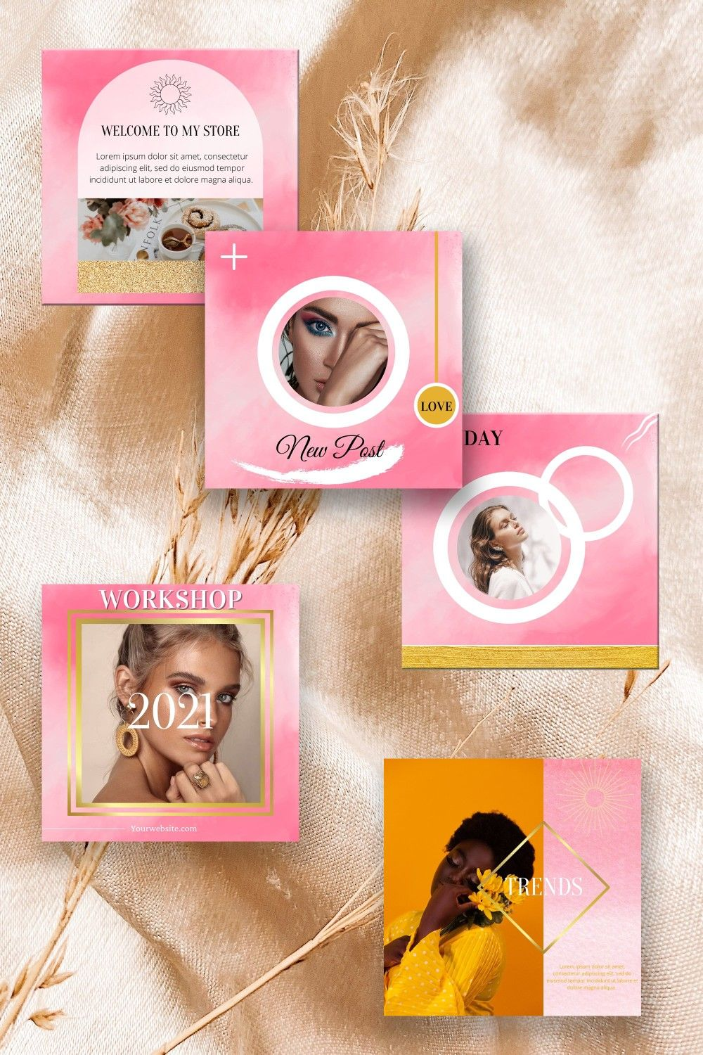 Beauty Instagram Creator, Instagram Post Templates
