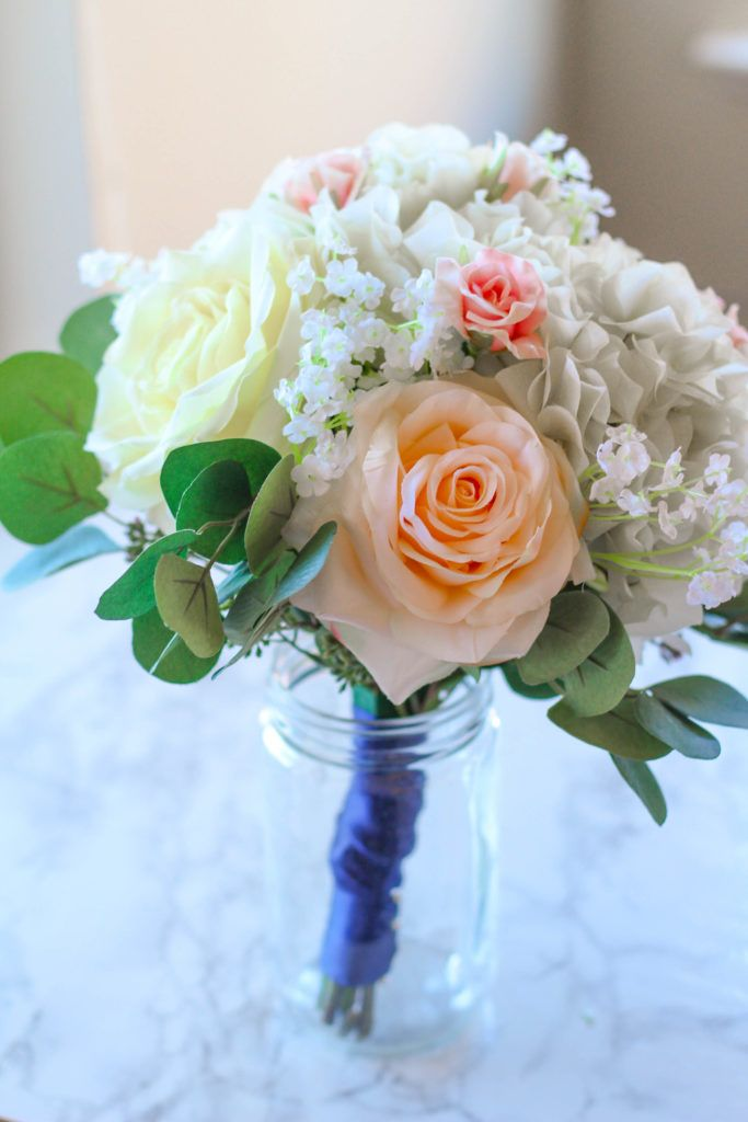 How To Make A Silk Flower Bridal Bouquet