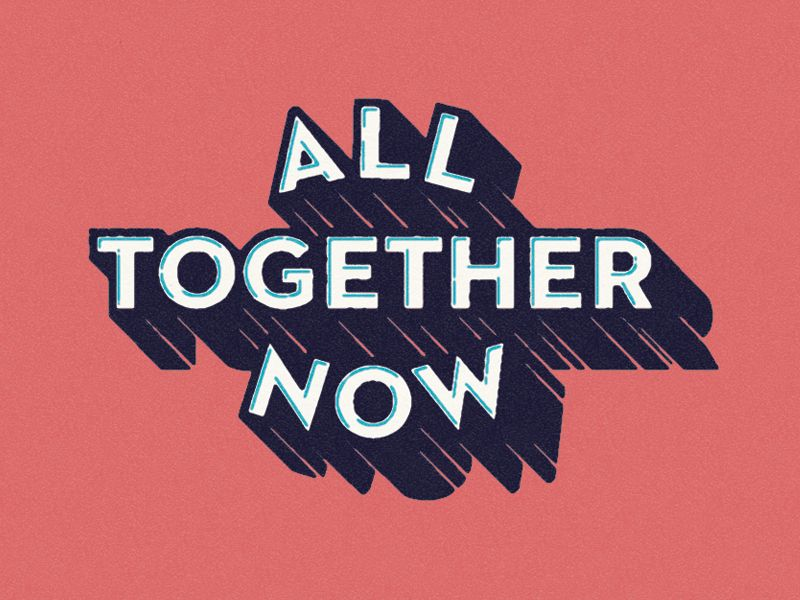 all together now 文字