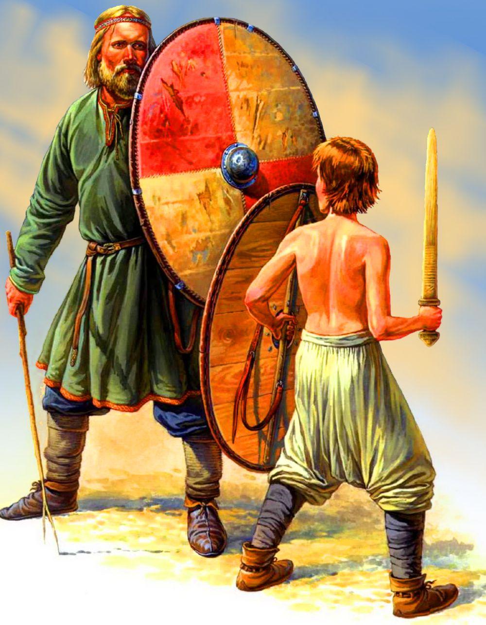 Russian Spearman Training A Child Medieval War Art Pinterest - Russian vikings