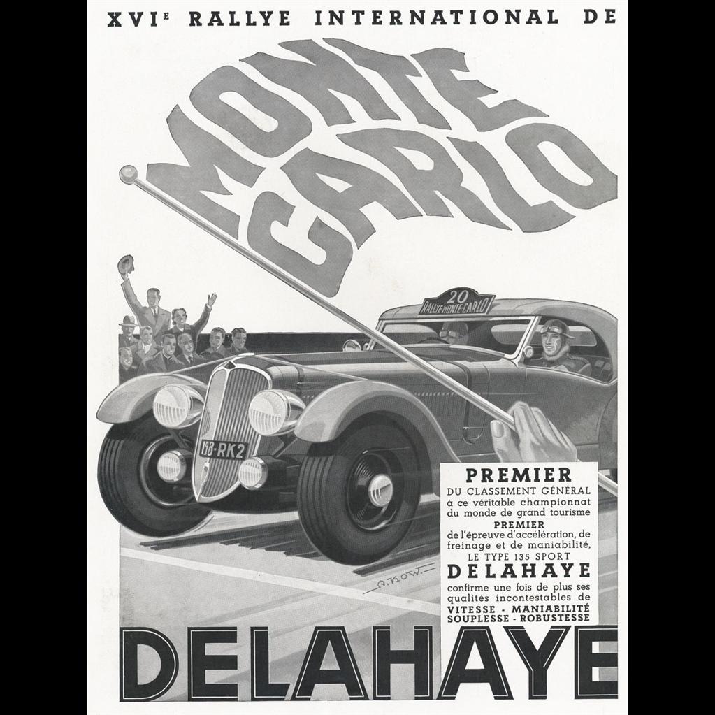 Original French Vintage Race Car At Monte Carlo Delahaye Vintage Race Car Vintage Racing