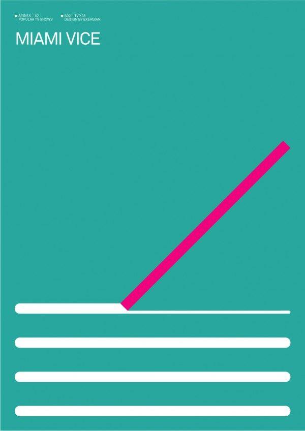 Minimalist Poster Tv Shows Miami Vice Geometric Poster