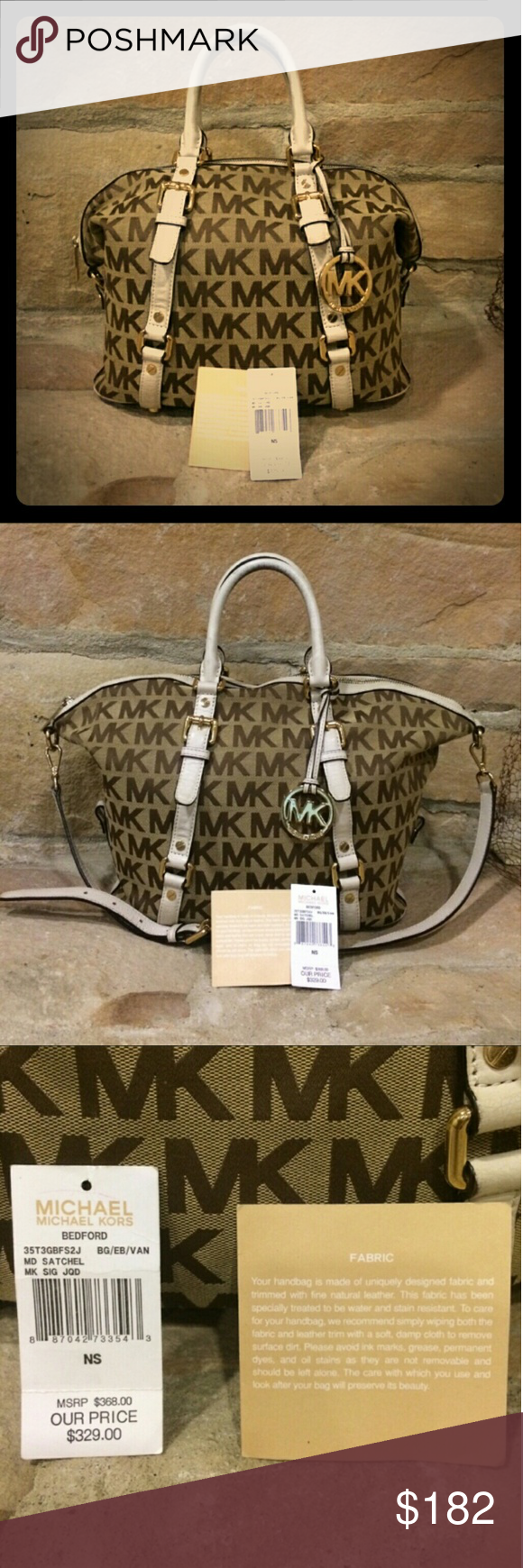 MICHAEL KORS Bedford Bag Michael Kors bag in great used condition! There is a small snag spot & arm straps have a little wear on them as shown in picture above! Still have the original tags! Offers welcome! MICHAEL Michael Kors Bags
