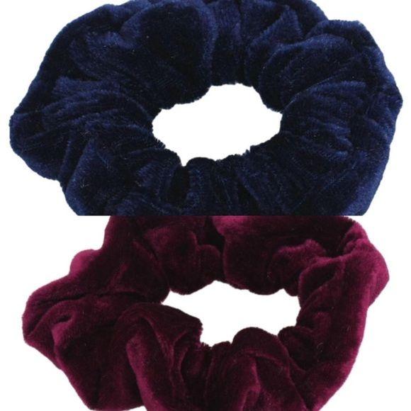 UNUSED. Blue and Red VELVET Scrunchies { NEW } Velvet. 2 for $8 Urban Outfitters Other