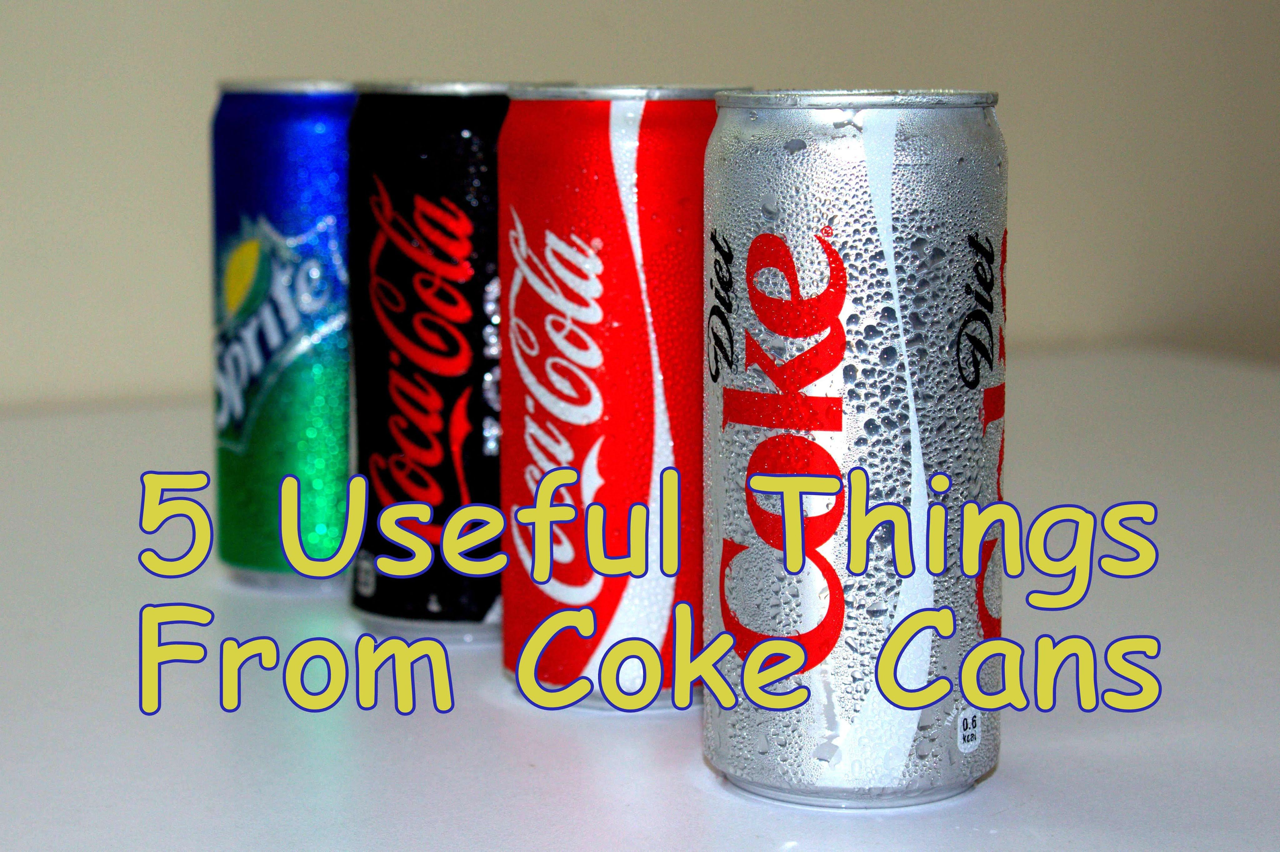 5 Useful Things From Coke Can Coke Cans Coke Can Crafts Canning