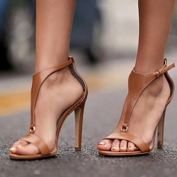 Bonnieshoes Adjustable Buckle Thin High Heel Sandals in 2020