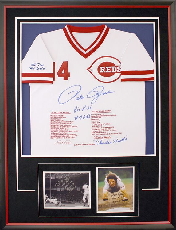 Cincinnati Reds jersey framed with custom design for signed ...