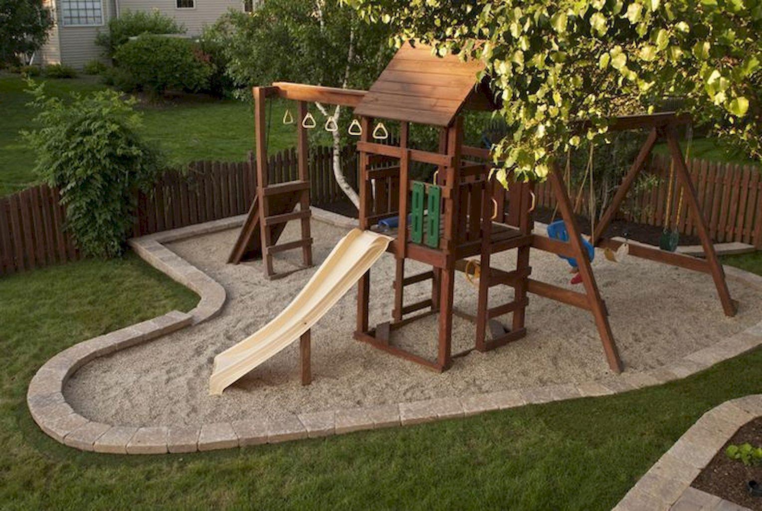 60 creative small backyard playground kids design ideas