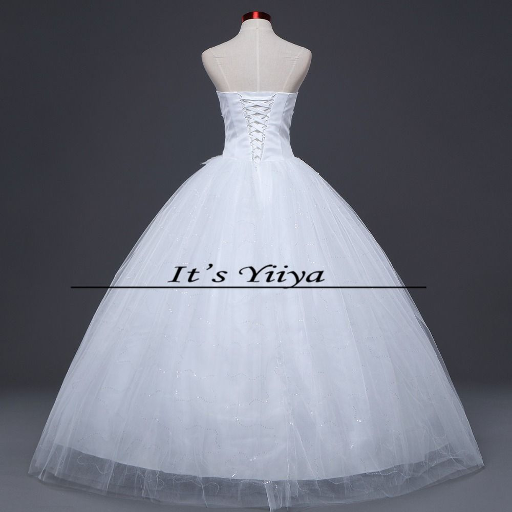 How much are wedding dresses  Free shipping  new lace up white wedding gown floorlength koren