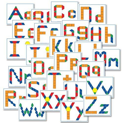 free alphabet printables pattern blocks  free alphabet