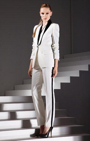 Witte tuxedo - Escada AW 2012