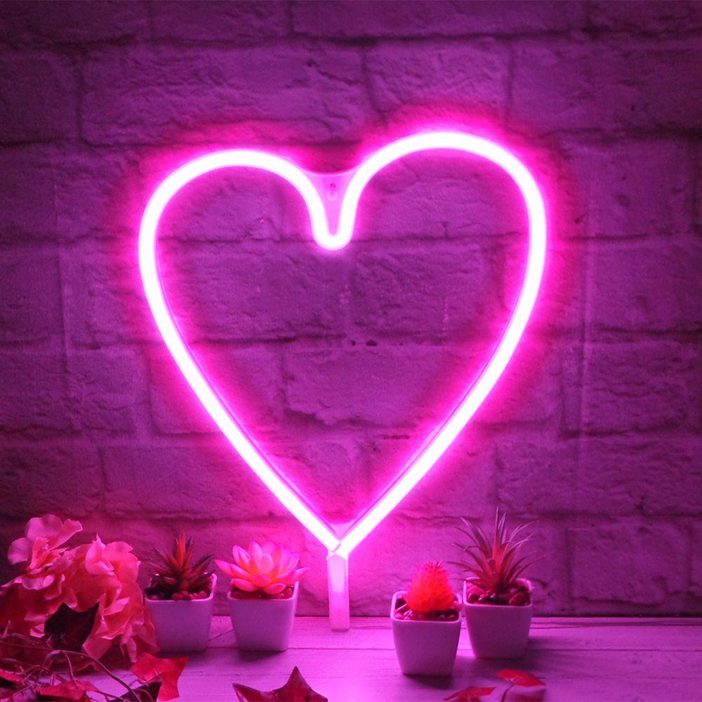 Heart Neon Wall Light Theglowhouse