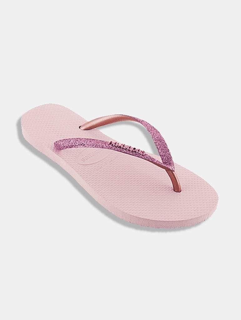 9c18ae8663 Havaianas Slim Glitter Ballet Rose Flip Flops