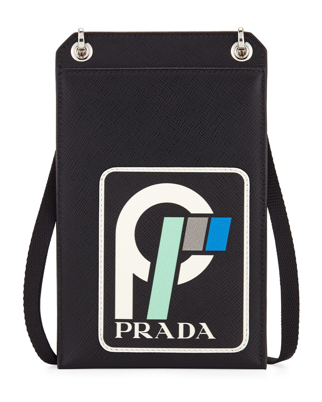 0600f2f0bc0d ... spain prada mens saffiano leather patch lanyard id holder. prada bags  leather d9db8 d9e32 ...