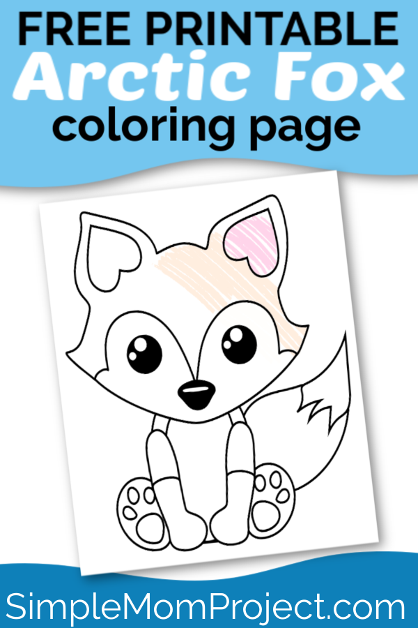 Free Printable Baby Fox Coloring Page Simple Mom Project In 2020 Fox Coloring Page Fox Crafts Animal Crafts For Kids