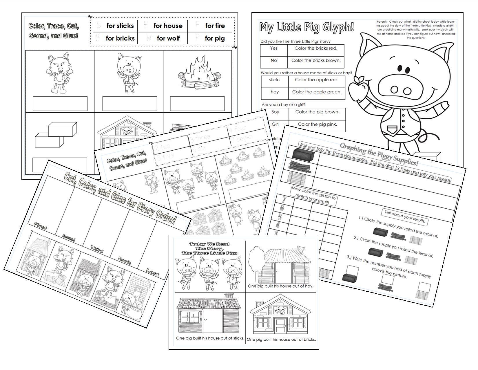 medium resolution of the three little pigs printables