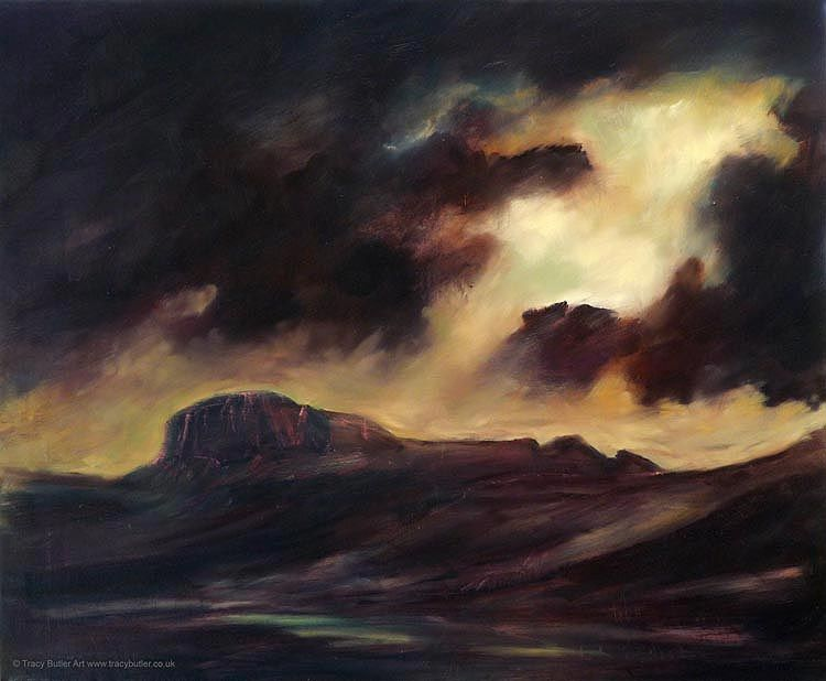 Walk into Suilven, oil on canvas by Tracy Butler. More at http://www.tracyharrisonbutler.gallery/