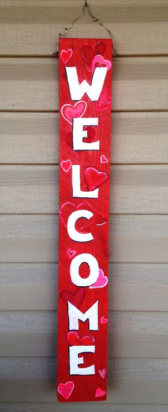 DIY Valentine's Day and LOVE Signs - landeelu.com |Valentine Hand Painted Wood Signs