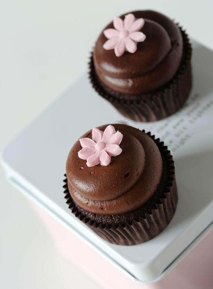 Chocolate cupcakes & luscious chocolate cream cheese frosting #chocolatecupcakes