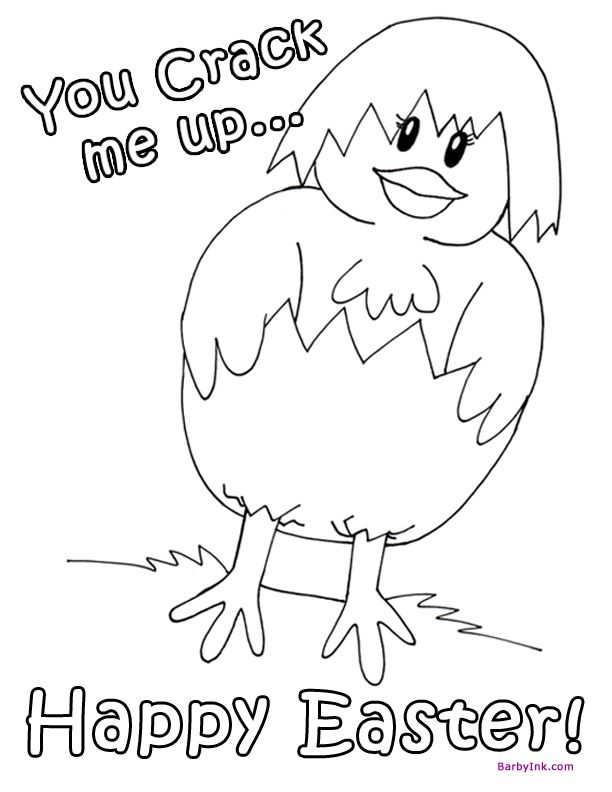 barby ink free easter coloring page happy easter baby chick az coloring pages - Baby Chick Coloring Pages Print