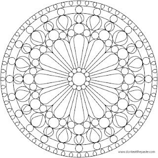 Rose Windows Mandala Coloring Pages Mandala Coloring Pages