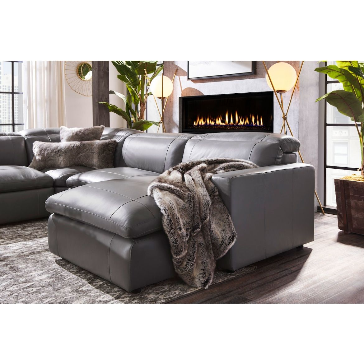 Happy 5 Piece Dual Power Reclining Sectional With Chaise And 3