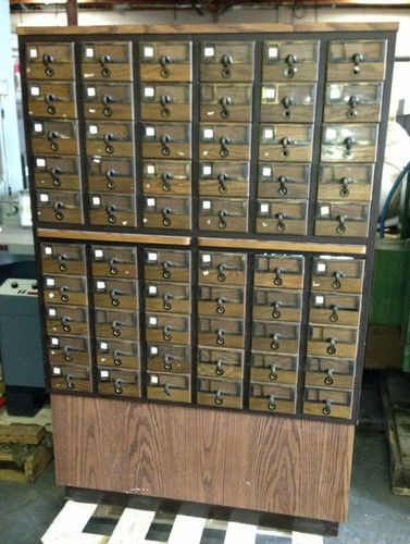60 drawer vintage library card catalog file wood cabinet storage 60 drawer vintage library card catalog file wood cabinet storage tool very rare ebay malvernweather Image collections