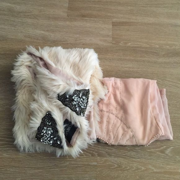 LAST CHANCE- F21 Glamour Bundle •Forever 21 Embellished Faux Fur Vest- GUC (some of the beading is loose but has not fallen off)- sz XL but fits as an oversized vest so smaller sizes may wear it- Originally $50      •Flutter Boutique Beaded Dress- GUC (only worn once, some of the beading has fallen off but I didn't notice until listing on posh)- sz L- Originally $100     ITEMS WILL NO LONGER BE AVAILABLE ON 3/15 Forever 21 Dresses