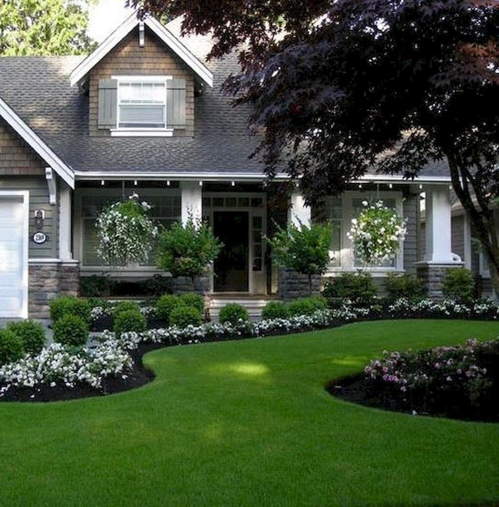 Minimalist Front Yard Landscaping Ideas On A Budget12 Front Yard Garden Design House Landscape Front Yard Landscaping