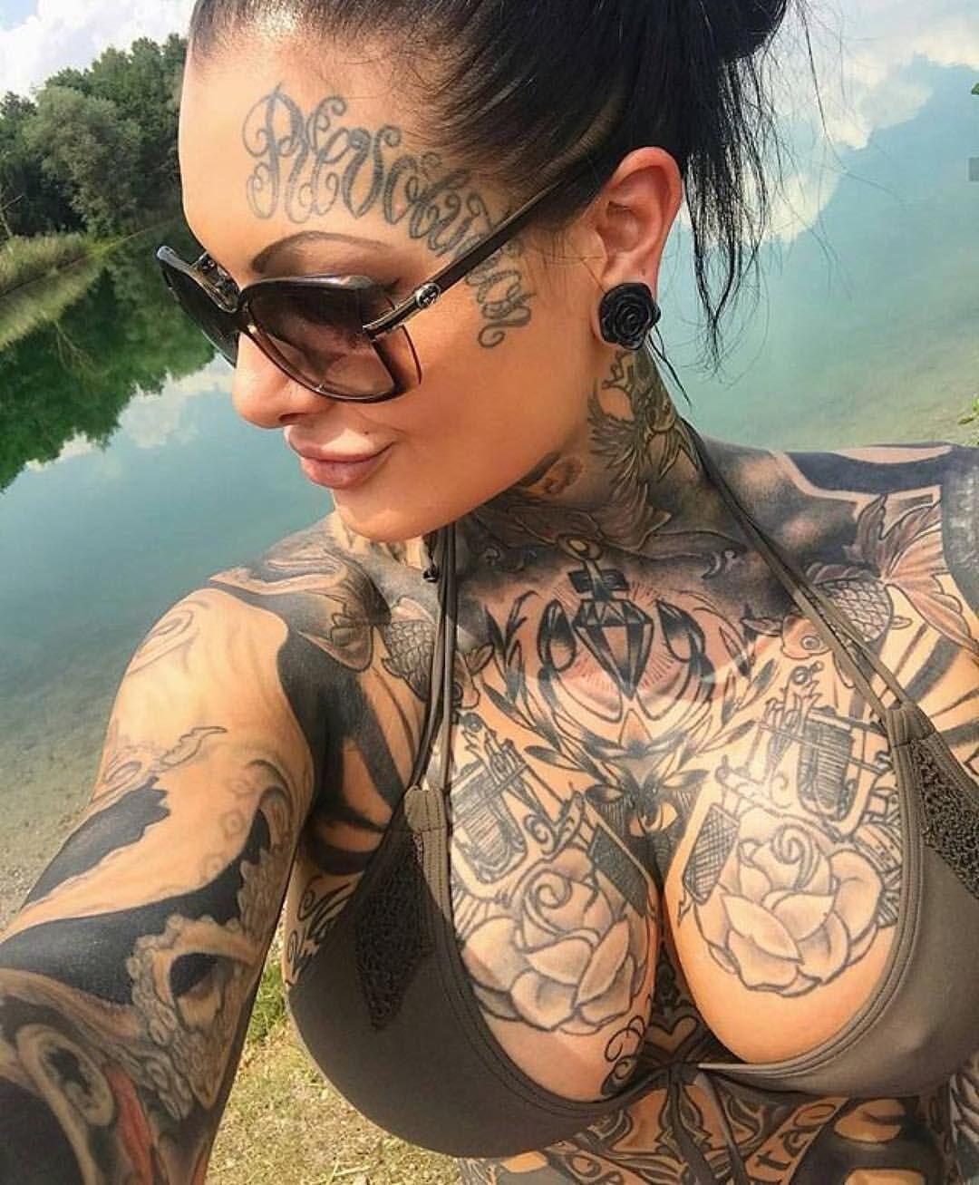 Sky tattoo boobs