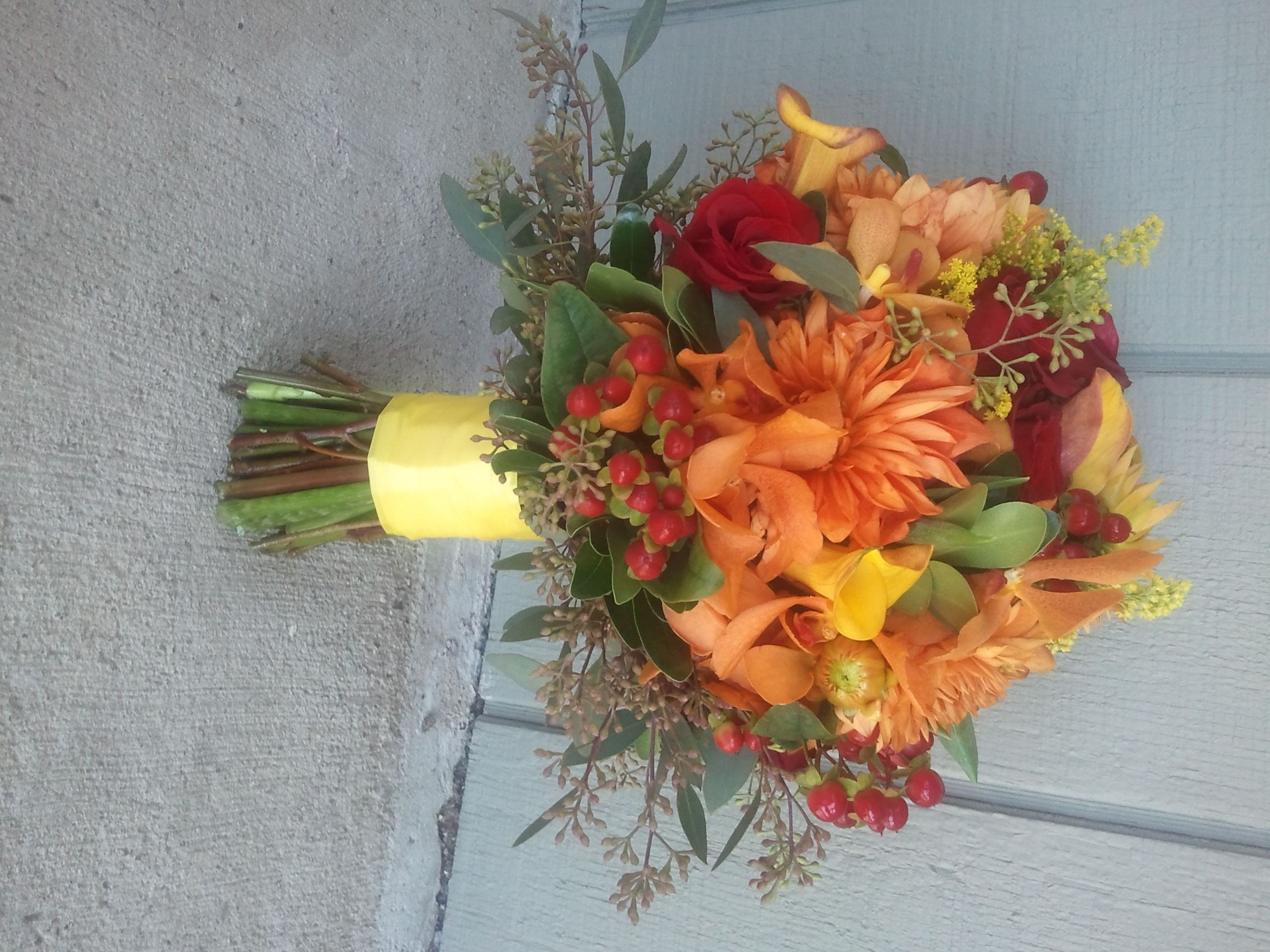 Fall Wedding Bouquets   fall bridalbouquet1 Fall Wedding Flowers A Recap of This Years ...
