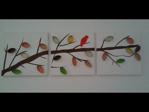 Como hacer un cuadro de cart n f cil y sencillo - Manualidades faciles cuadros ...